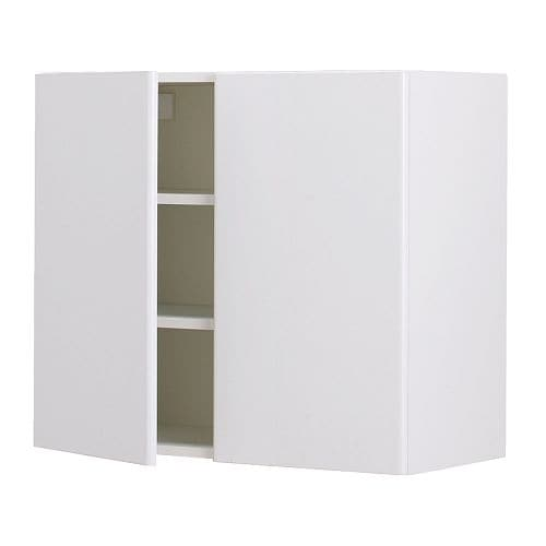 "AKURUM Wall cabinet with 2 doors   Adjustable shelf; adapt spacing to your own storage needs.  Sturdy frame construction, 3/4"" thick."