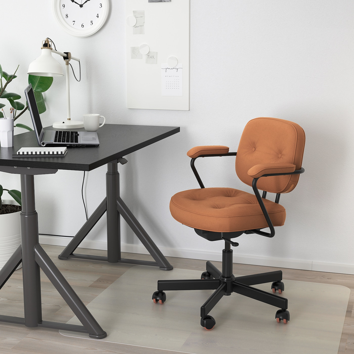 ALEFJÄLL Office chair - Grann golden brown