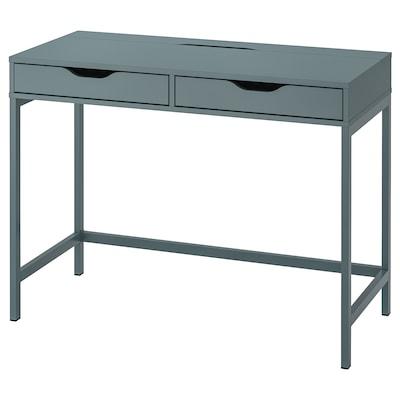 "ALEX Desk, gray-turquoise, 39 3/8x18 7/8 """