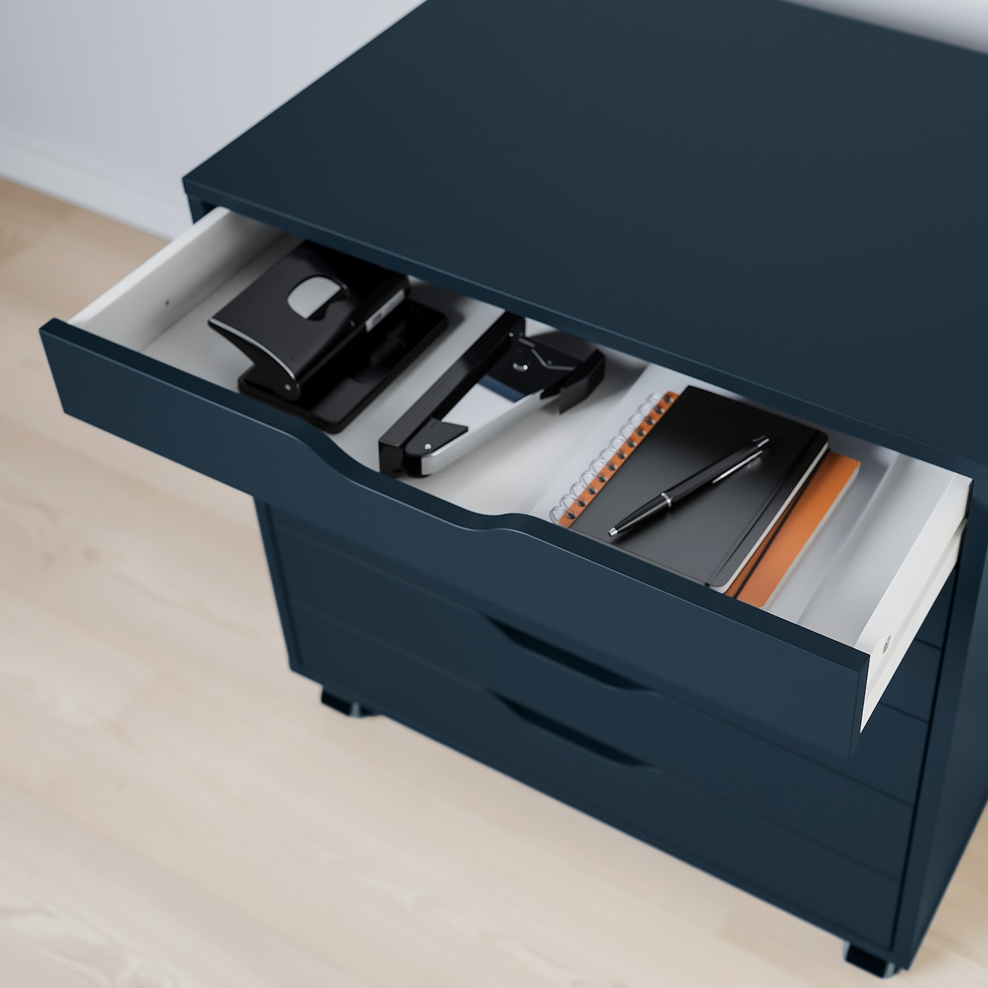 Alex Drawer Unit On Casters Blue 263 8x26 67x66 Cm Ikea