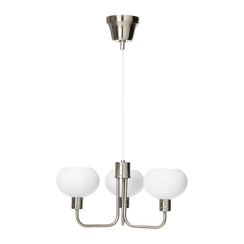 ÄLGHULT Pendant lamp, 3-armed   The lamp gives a soft light and creates a warm, cozy atmosphere in your room.