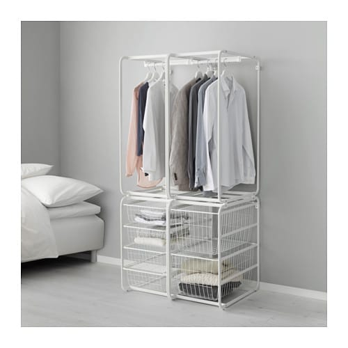 Algot frame with rod and wire baskets ikea for Frame storage system