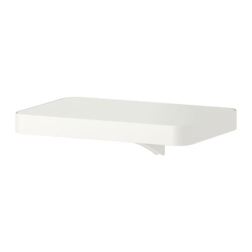 ALGOT Shelf with bracket   Just click in on ALGOT wall upright – no tools needed.