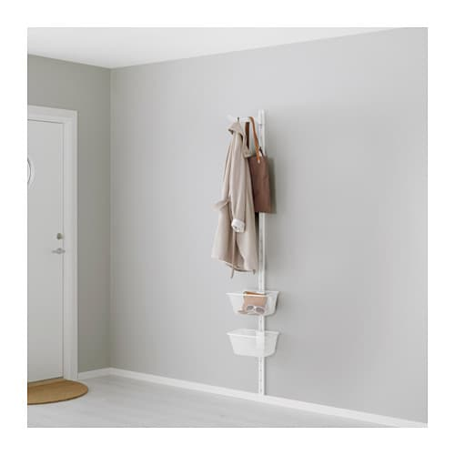 ALGOT Wall upright, basket and hook