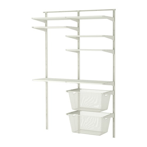 ALGOT Wall upright/shelves/drying rack   You can build ALGOT in many ways to suit different things and spaces.
