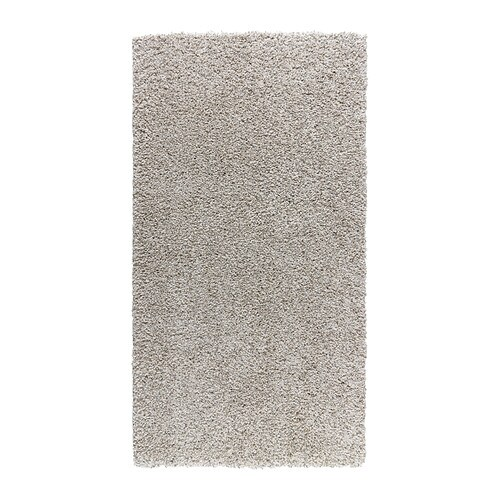 ALHEDE Rug, high pile   The dense, thick pile dampens sound and provides a soft surface to walk on.