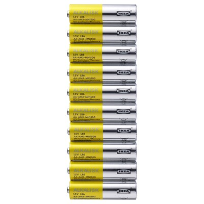 ALKALISK Alkaline battery, LR6 AA 1.5V