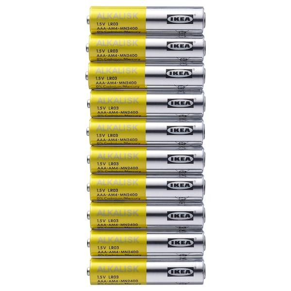 ALKALISK Alkaline battery, LR03 AAA 1.5V