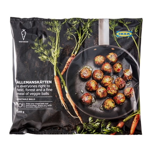 Allemansr tten vegetable balls frozen ikea for Ikea vegetable balls