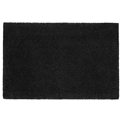 ALMTJÄRN Bath mat, dark gray, 24x35 ""