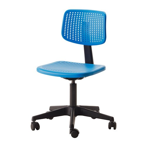 ALRIK Swivel chair   You sit comfortably since the chair is adjustable in height.  Easy to keep clean by just wiping with a damp cloth.