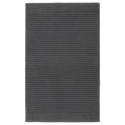 ALSTERN Bath mat, dark gray, 20x32 ""