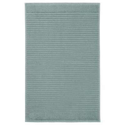 ALSTERN Bath mat, light gray-green, 20x32 ""