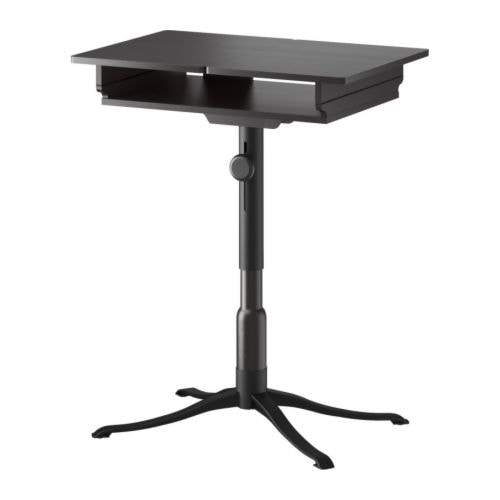 ALVE Laptop table   Unfolded, the table tops provide extra work surfaces for a computer mouse, notepad, etc.  Height adjustable.