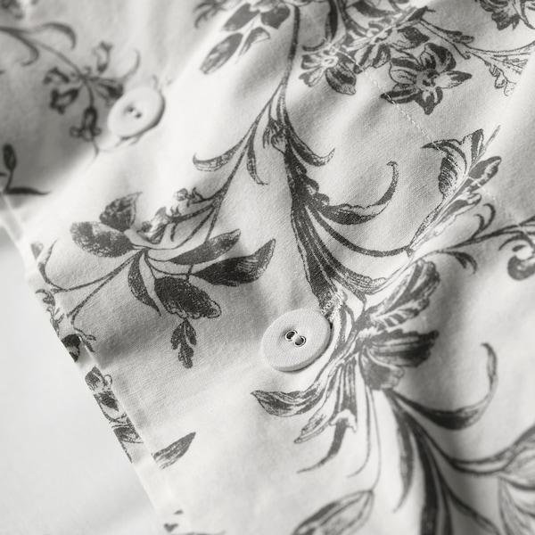 ALVINE KVIST Duvet cover and pillowcase(s), white/gray, Full/Queen (Double/Queen)