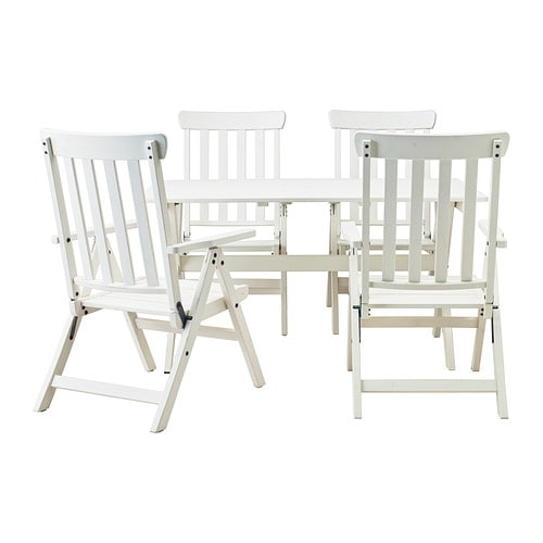 Reclining living room furniture sets - 196 Ngs 214 Table 4 Reclining Chairs Outdoor White Stained Ikea