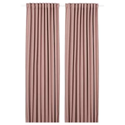 """ANNAKAJSA Room darkening curtains, 1 pair, pink, 57x98 """""""