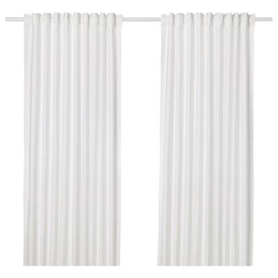 """ANNALOUISA curtains, 1 pair white 98 """" 57 """" 3 lb 8 oz 39.07 sq feet 2 pack"""