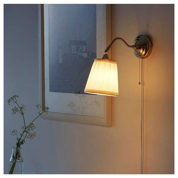 ÅRSTID Wall lamp, nickel plated/white