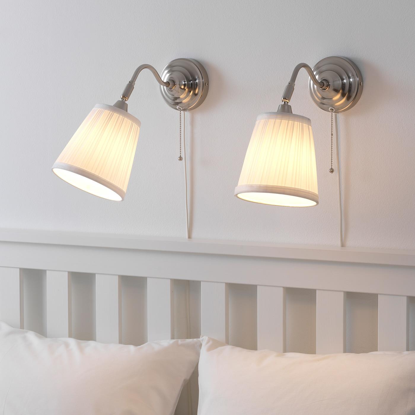 ÅRSTID Wall lamp - nickel plated/white