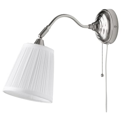 "ÅRSTID wall lamp nickel plated/white 40 W 15 "" 6 "" 8 ' 2 """