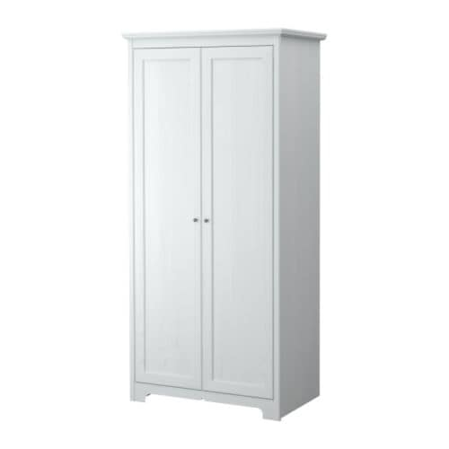ASPELUND Wardrobe with 2 doors   Adjustable hinges ensure that the doors hang straight.