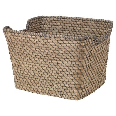 "ÅSUNDEN Basket, dark gray, 11 ¾x14 ¼x9 ¾ """