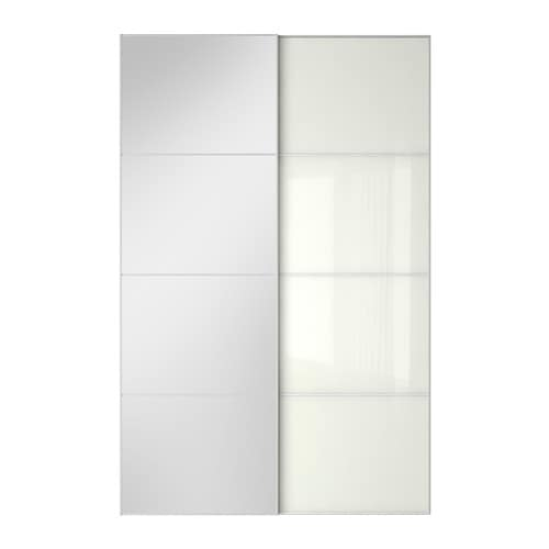 AULI / FÄRVIK Pair of sliding doors - 150x236 cm, soft closing ...