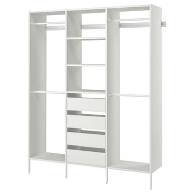 "AURDAL Wardrobe combination, white, 74 3/4x15 3/4x87 """