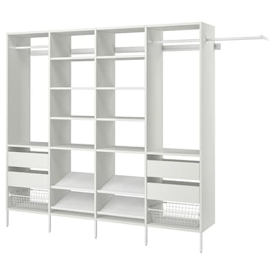 "AURDAL Wardrobe combination, white, 118 7/8-132 7/8x15 3/4x87 """