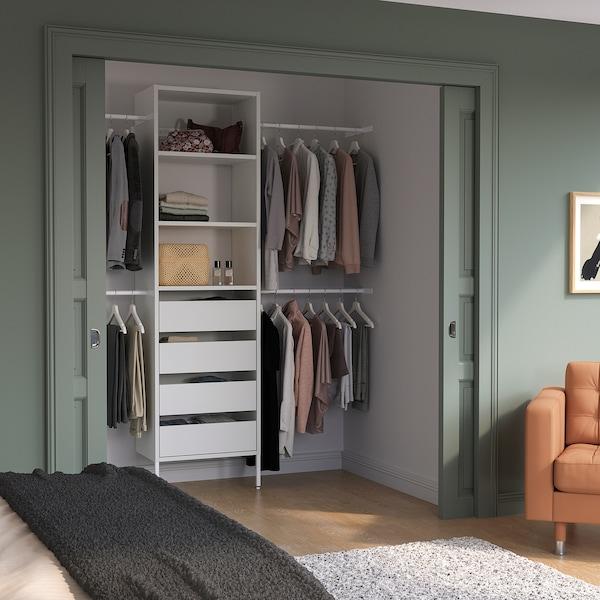 "AURDAL Wardrobe combination, white, 68 1/2-94 1/2x15 3/4x87 """