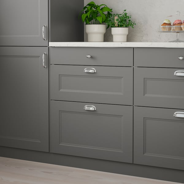 AXSTAD Drawer front, dark gray, 24x15 ""