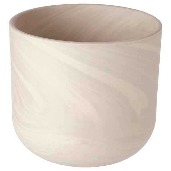 BACKSMULTRON Plant pot, indoor/outdoor beige/gray, 6 ""