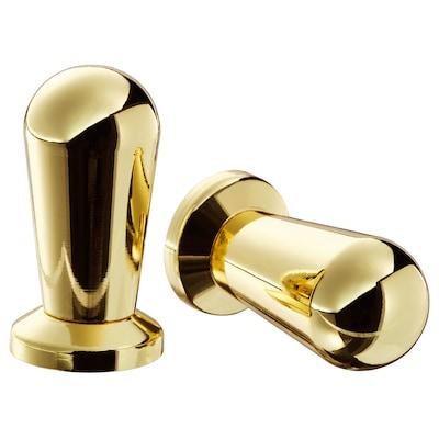 "BAGGANÄS Knob, brass color, 1/2 """