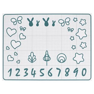 """BAKTRADITION Baking mat, white/turquoise, 24x18 """""""