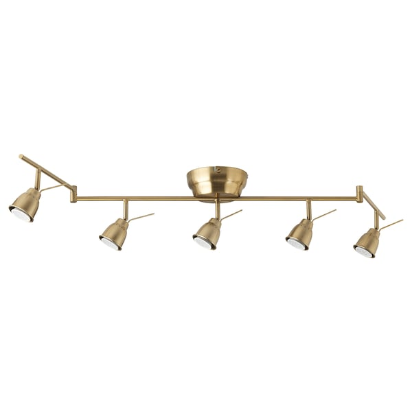 BAROMETER Ceiling track, 5-spots, brass color