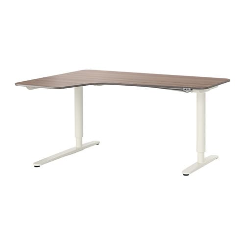 Ikea Frisiertisch Aufbewahrung ~ BEKANT Corner desk left sit stand 10 year Limited Warranty Read about