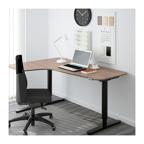BEKANT Corner desk left sit/stand   10-year Limited Warranty.   Read about the terms in the Limited Warranty brochure.