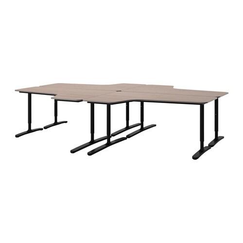 BEKANT Desk combination birch veneer white IKEA. Ikea Bekant Desk Similar