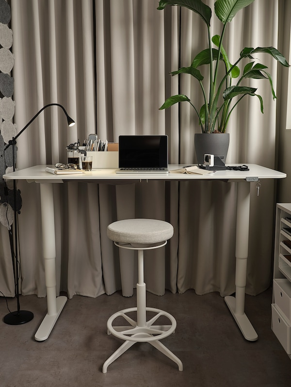 "BEKANT Desk sit/stand, white, 47 1/4x31 1/2 """