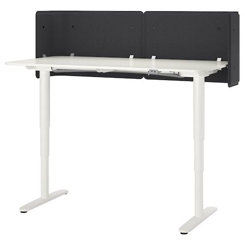 "BEKANT reception desk sit/stand white 21 5/8 "" 63 "" 31 1/2 "" 22 "" 48 "" 154 lb"