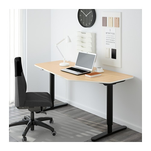 BEKANT 5-sided desk, sit/stand   10-year Limited Warranty.   Read about the terms in the Limited Warranty brochure.