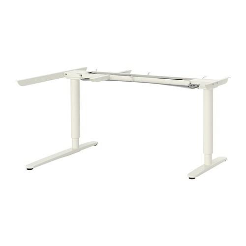 Bekant Sit Stand Underframe Corner Table White Ikea