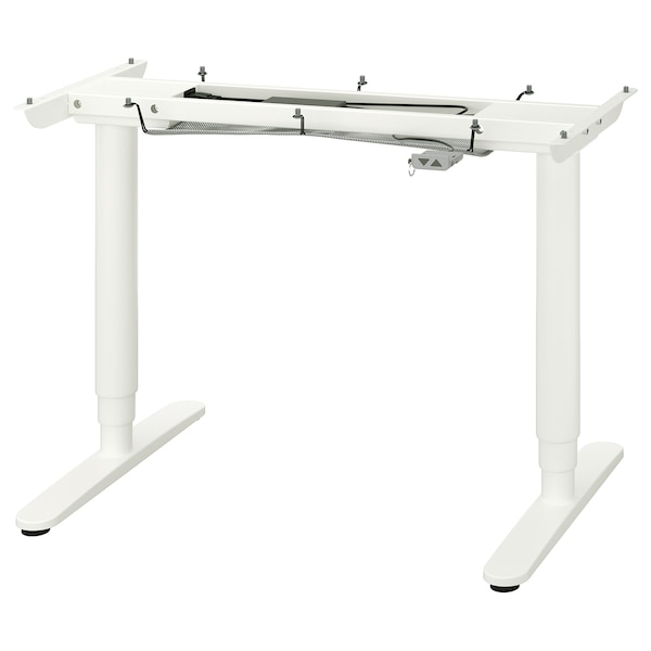 BEKANT Sit/stand underframe for table top, white, 47 1/4x31 1/2 ""