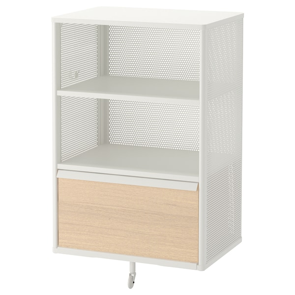 """BEKANT Storage unit, mesh/white, 24x39 3/4 """""""
