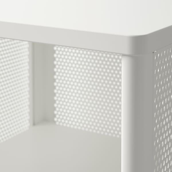 "BEKANT Storage unit on casters, mesh white, 16 1/8x39 3/4 """