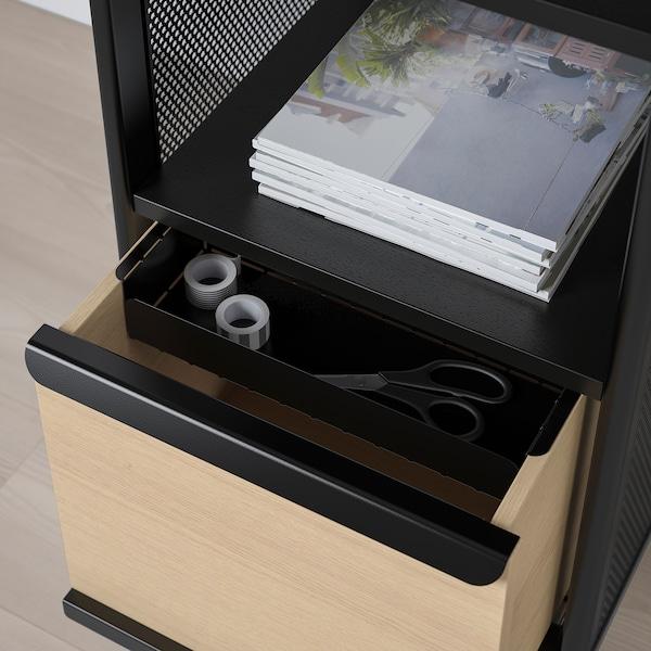 "BEKANT Storage unit on legs, mesh black, 16 1/8x39 3/4 """