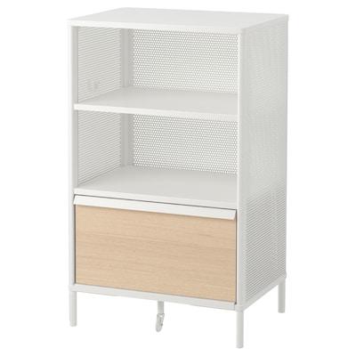 "BEKANT Storage unit with smart lock, mesh white, 24x39 3/4 """