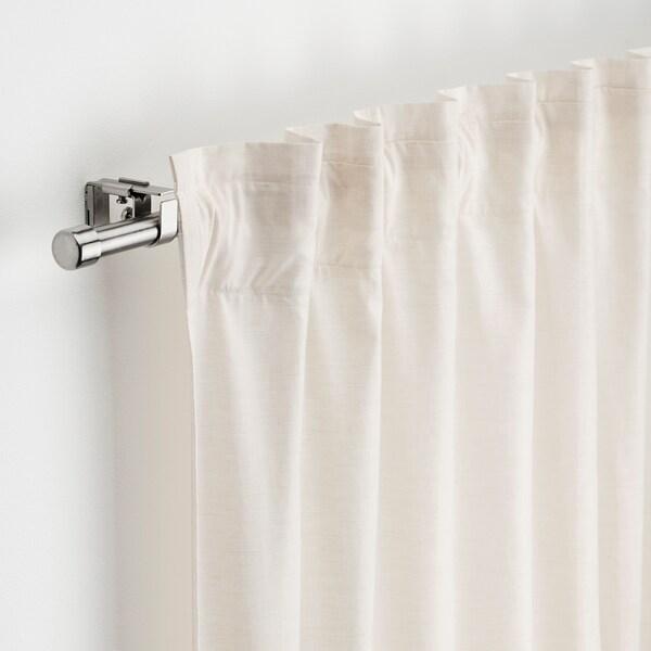 bekrafta curtain rod set nickel plated 47 82 3 4 120 210 cm 19 mm