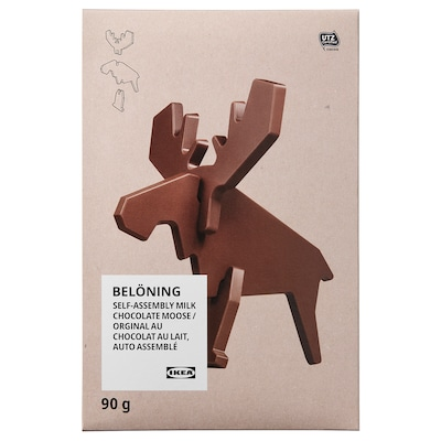 BELÖNING Milk chocolate moose, self-assembly UTZ certified, 3 oz